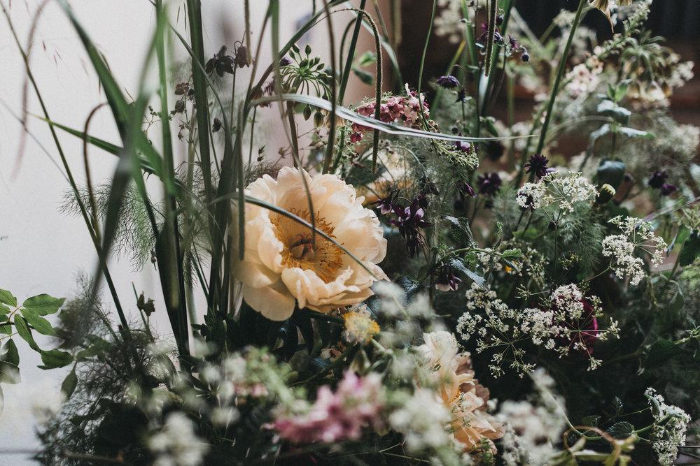 Summer British flowers