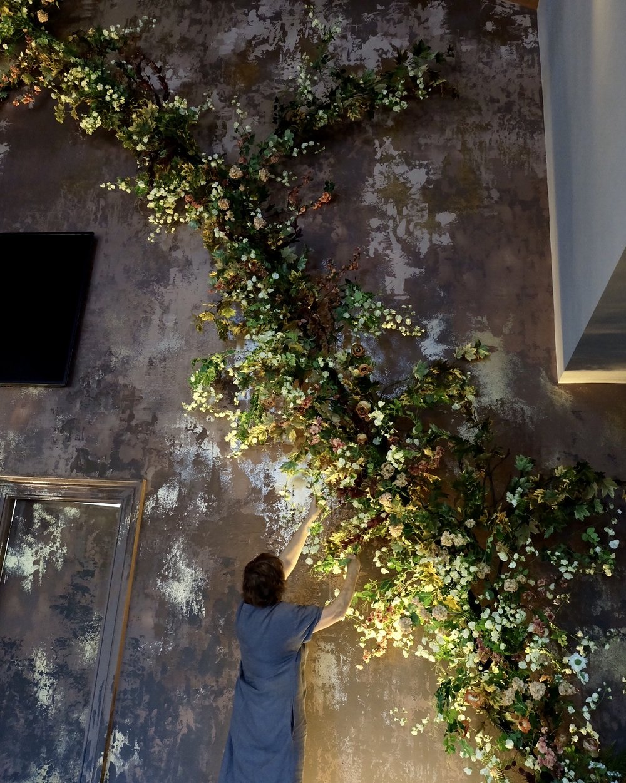 faux botanical installation