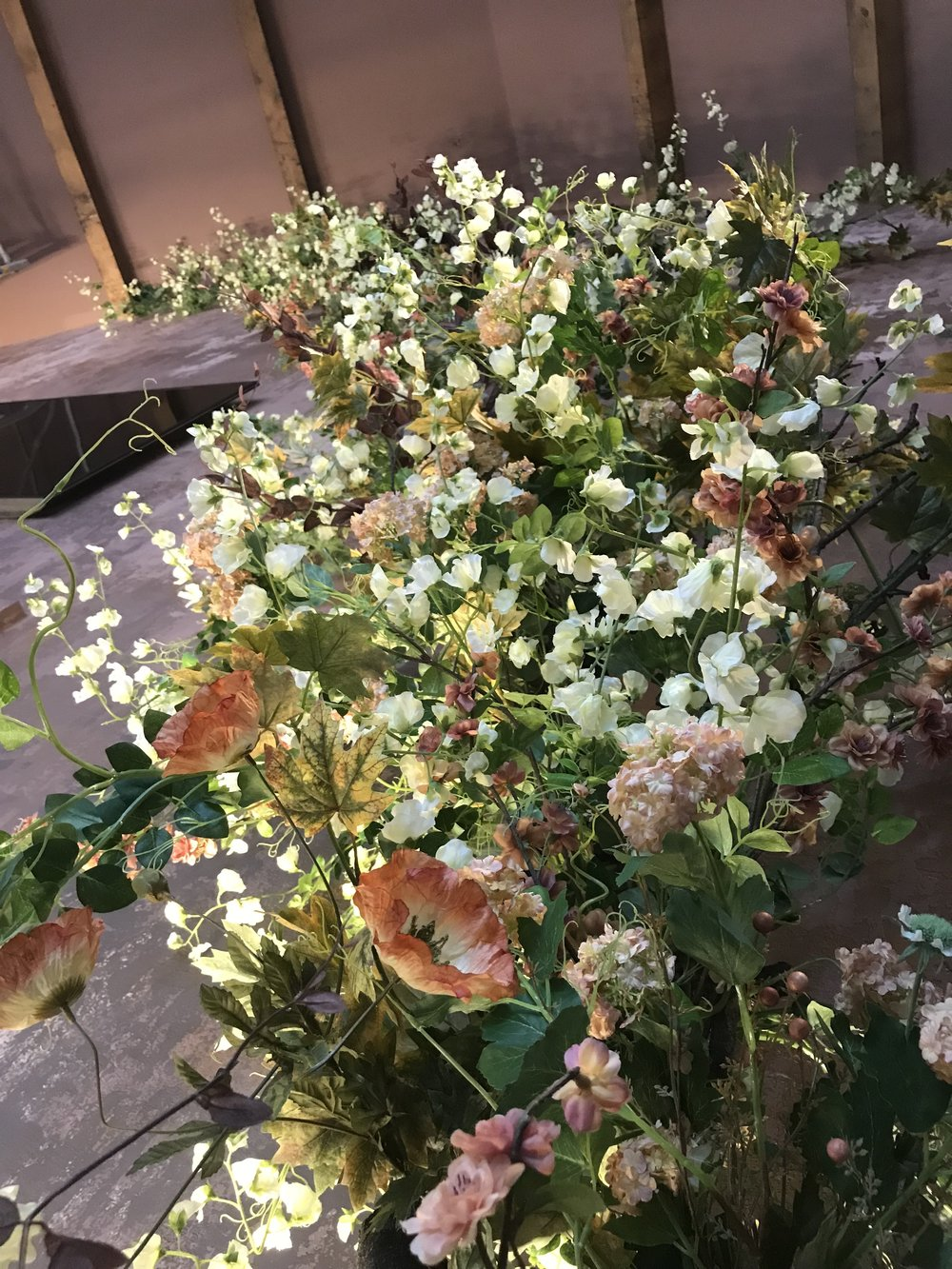 faux flower installation