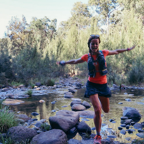 Rachel Bonn Payn - Rachel is an exercise physiologist, yoga  teacher and a fountain of positive energy. She loves the way running connects you to the earth and says ultra running satisfies the scientist in her – allowing her to explore the world with curiosity. What is  around the next corner? Can I go a little further, higher? How will  my body respond? Each time, finding the answer is a lesson in empowerment and an inspiration to reach higher.