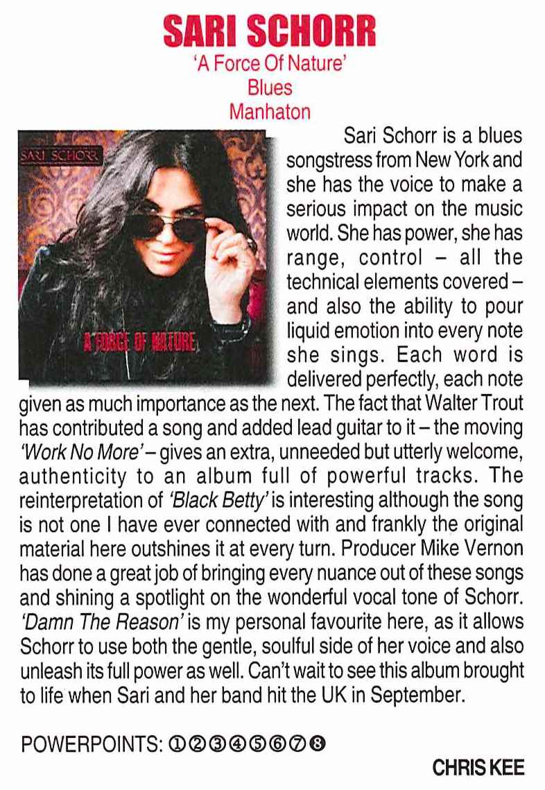 Powerplay Magazine_September 2016_Sari Schorr 'A Force Of Nature' review_2.jpg