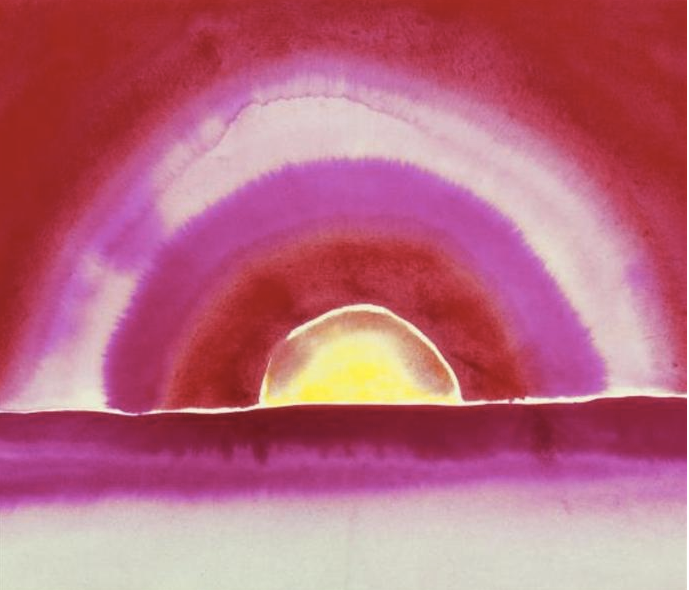Sunrise by Georgia O'Keeffe. Source: Wikipedia Commons.