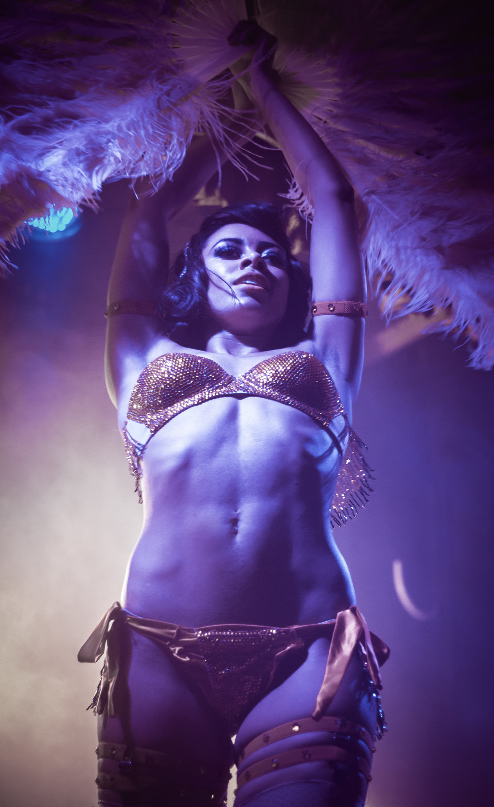 Miss Burlesque Australia title holder  Zelia Rose  performs at local burlesque, cabaret + circus joint Red Bennies