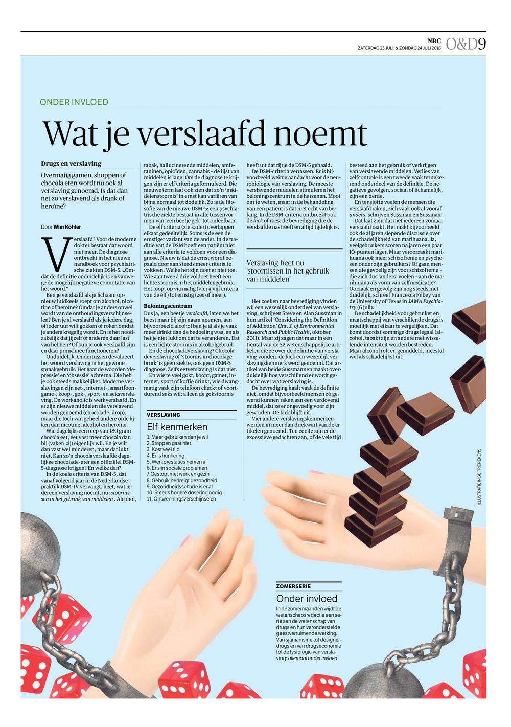 NRC Handelsblad - Wetenschap - Verslaaf.jpg
