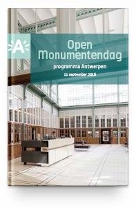 OPEN MONUMENTENDAG PROGRAMMA ANTWERPEN - 2016