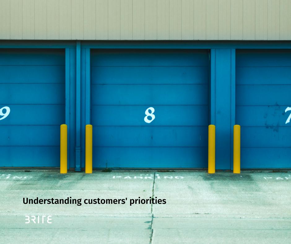 Customers priorities