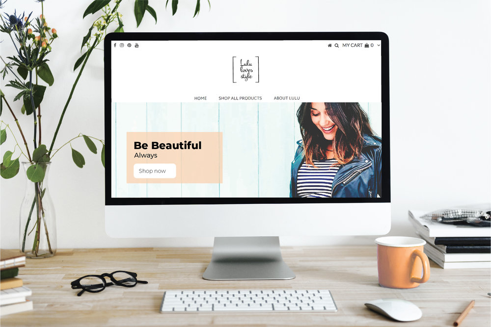 Lulu Loves Style website design