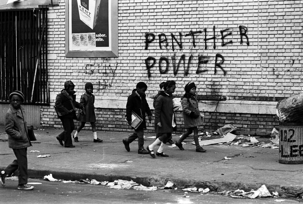 black+panthers+dogwoof+documentary+#6+A+group+of+seven+small+children+walk+to+school+with+books+in+hand.+Photo+courtesy+of+Stephen+Shames.jpg
