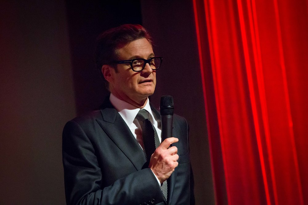 Colin Firth introducing the film