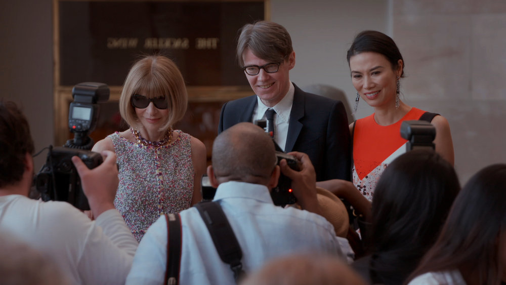 Anna Wintour, Andrew Bolton and Wendi Deng in The First Monday in May