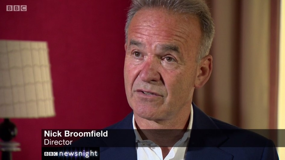 Nick Broomfield on Newsnight - WHITNEY 'Can I Be Me' - Dogwoof Documentary