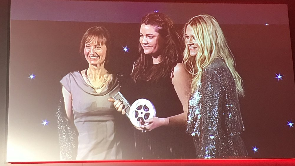 Pictured:Dorottya Székely collects the award for Rising Star.