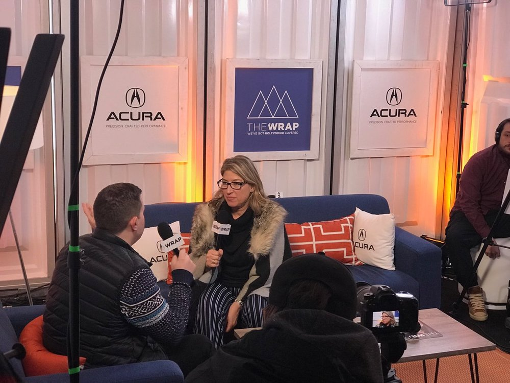Pictured: Director Lauren Greenfield in interview with The Wrap. Image courtesy of Lauren Greenfield.