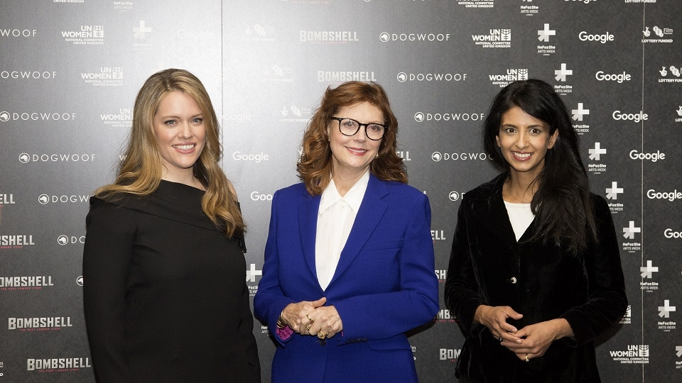 Alexandra Dean, Susan Sarandon and Konnie Huq