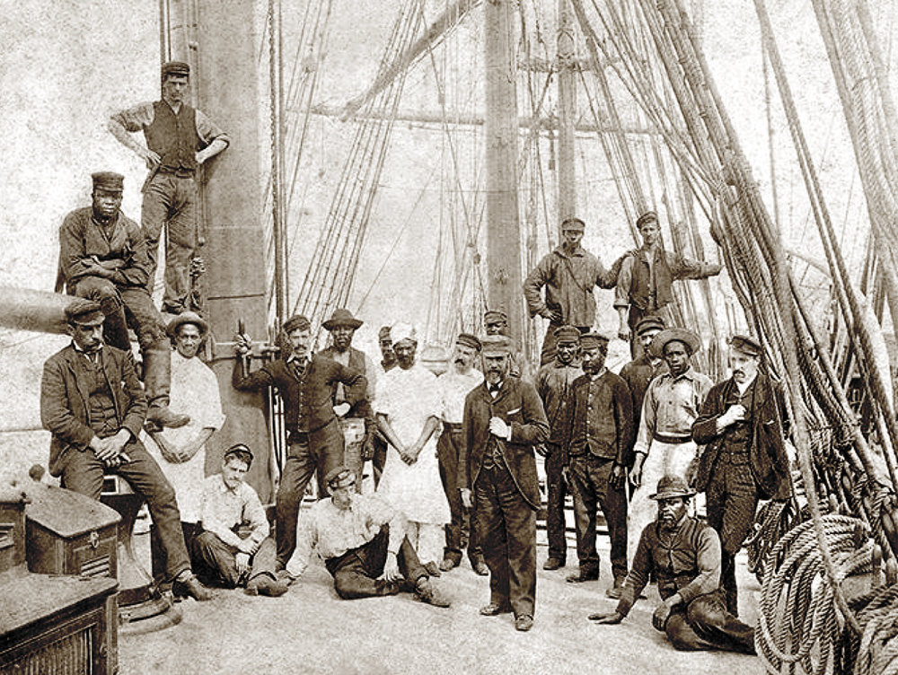 PHOTO: Crew of the  Rathdown  in 1892, from the archive of the National Park Service; courtesy of the author.