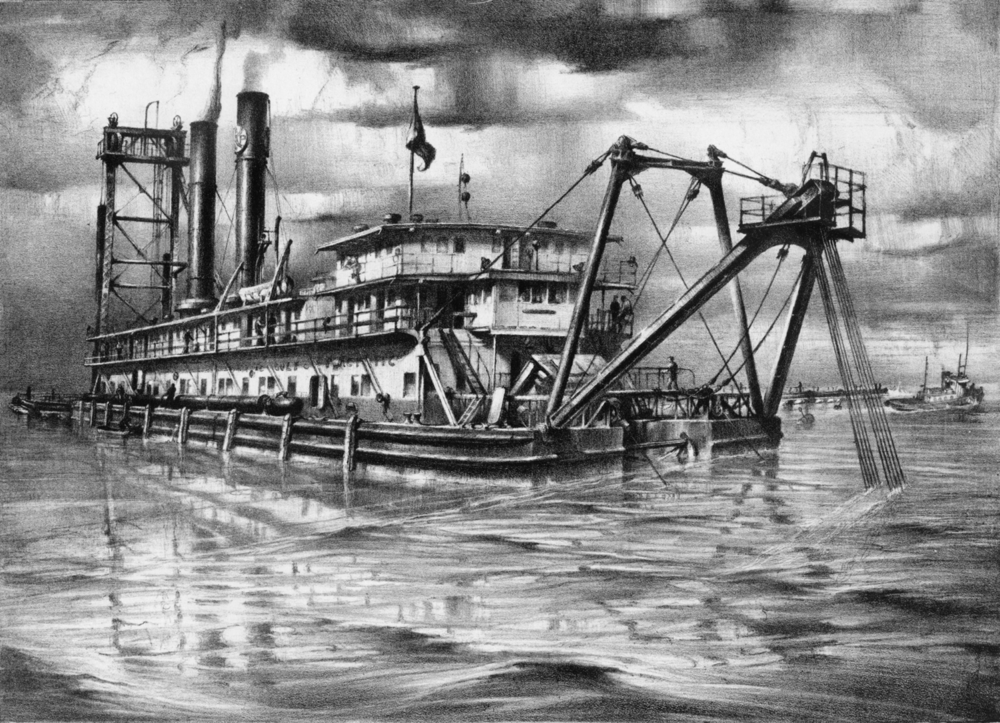"41. John A. Noble (1913-83), ""The Barlow, also known as The Great Hydraulic Dredge"""