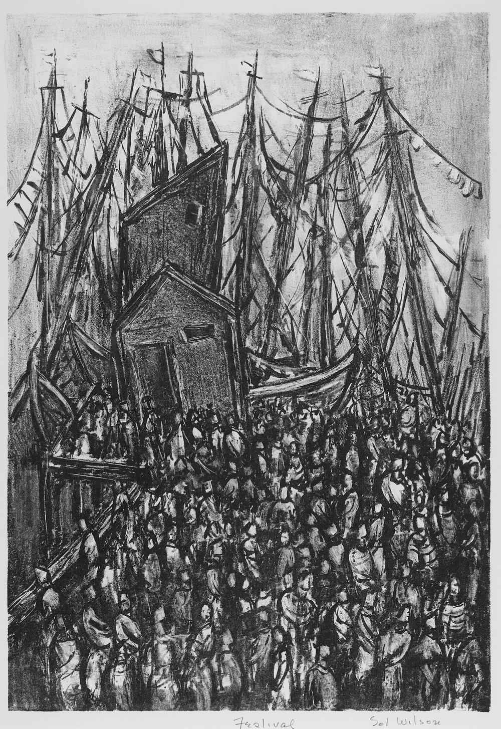 Sol Wilson (1896-1974),  Festival (Provincetown),  LIthograph, c. 1950,  Gift of Barnett Shepherd