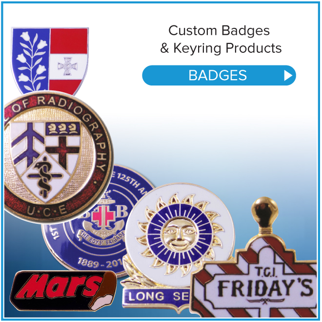 METAL BADGES. YOUR DESIGN, YOUR LOGO; OUR KNOW HOW