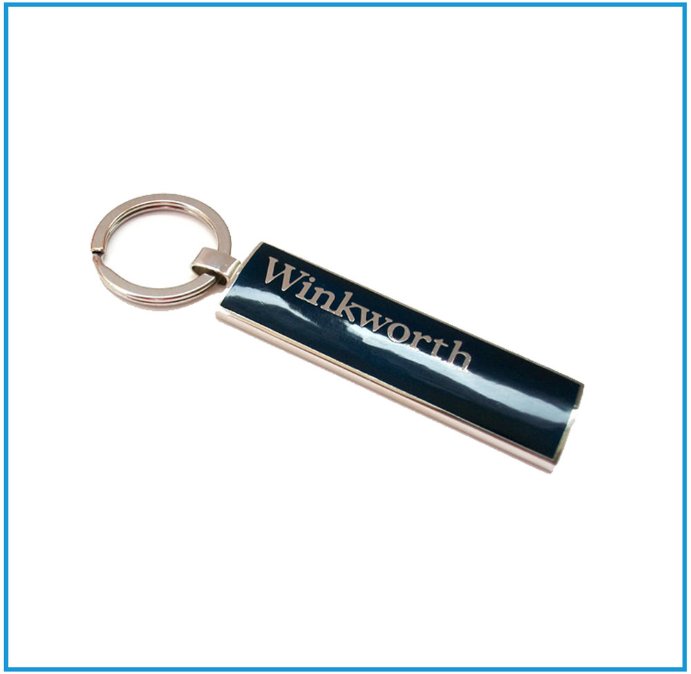 Keyrings - We can make a wide variety of Keyrings styles with enamel or designer 3D shapes.