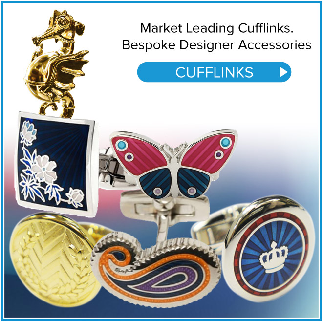 CUFFLINKS Enamel and designer cufflinks are a speciality of Merit. With a wealth of historical experience and innovative cutting edge techniques. Cufflinks →