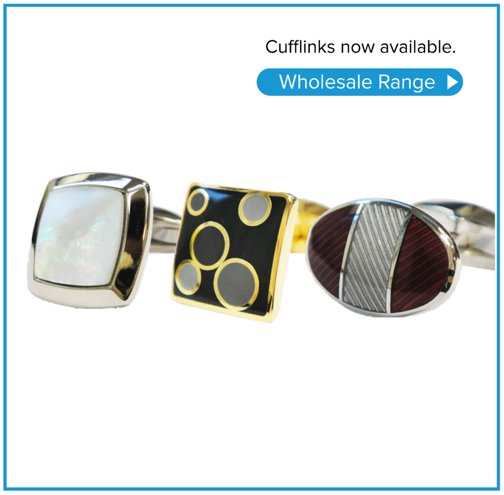 Wholesale cufflinks. Current season range available at wholesale prices for shops and individuals.