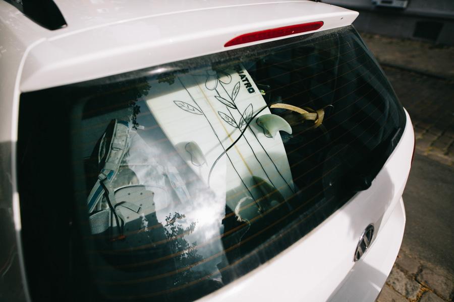 Surfboard im Auto