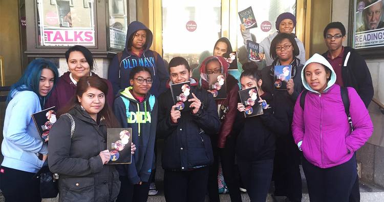 Students at the 2015 National Book Awards Teen Press Conference