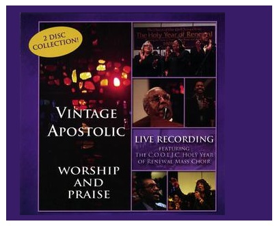 VINTAGE APOSTOLIC CD Commissioned by the late Bishop William L. Bonner, Bishop James I. Clark Jr., and the Board of Apostles of The Church of our Lord Jesus Christ, Inc. this project culminated in a LIVE recording at the Greater Refuge Temple Church of our Lord Jesus Christ in NY, NY. ON SALE NOW! Approximate Running Time: 120 minutes CD (2 discs) $16.99 TO PURCHASE: CLICK HERE DVD TRAILER: CLICK HERE