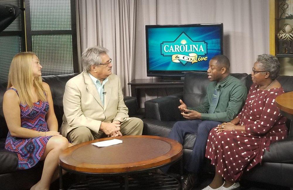 CAROLINA & CO. LIVE  WPDE ABC 15 MYRTLE BEACH (Interview 18:54- 22:10)
