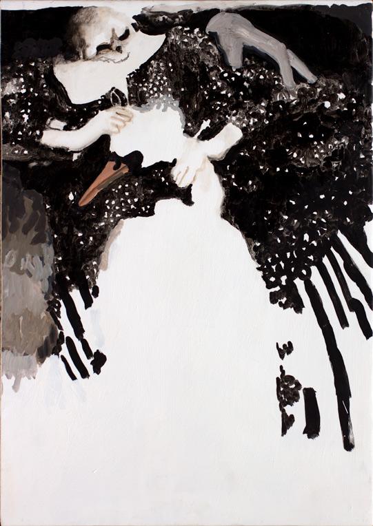"Death strangled the swan, 24x17"", 2014"