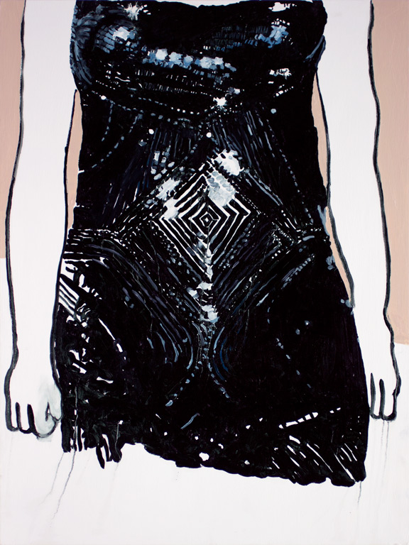 "I thought I saw the whole universe (Scarlett Johansson in Versace), 40x30"", 2014"