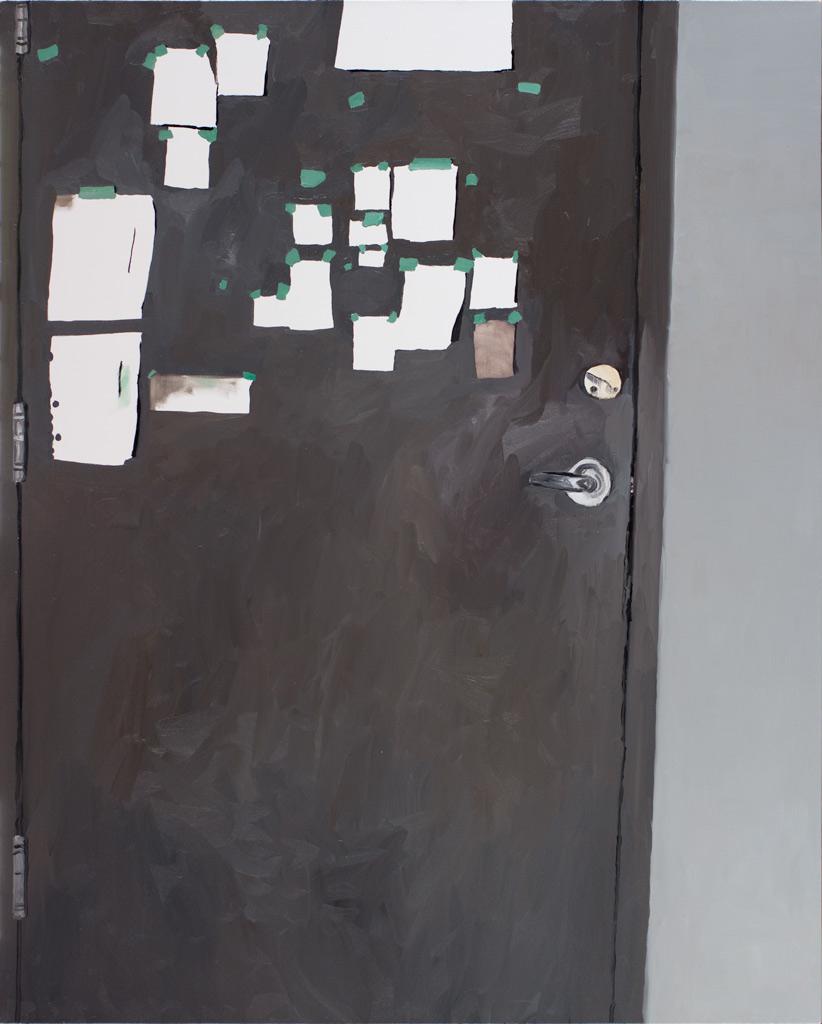 """Studio Door, 60 x 48"""", 2014"""