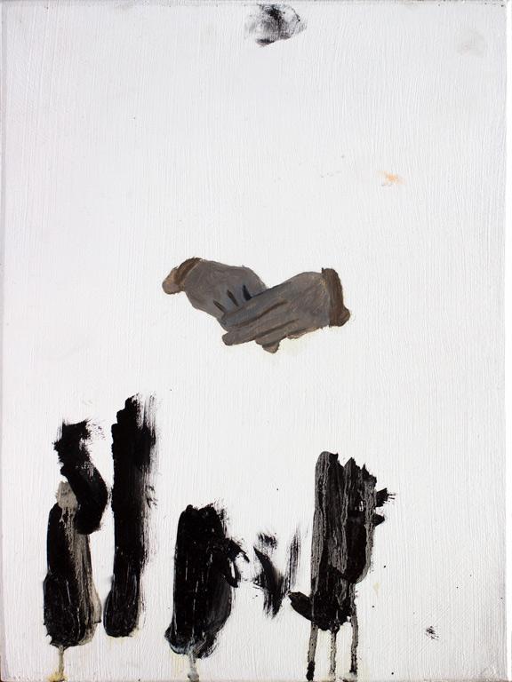 black paint study