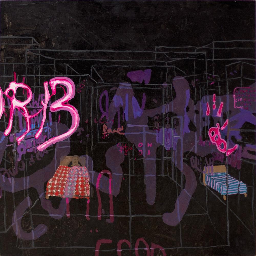 """A History of Graffiti, 30x30"""", 2007"""