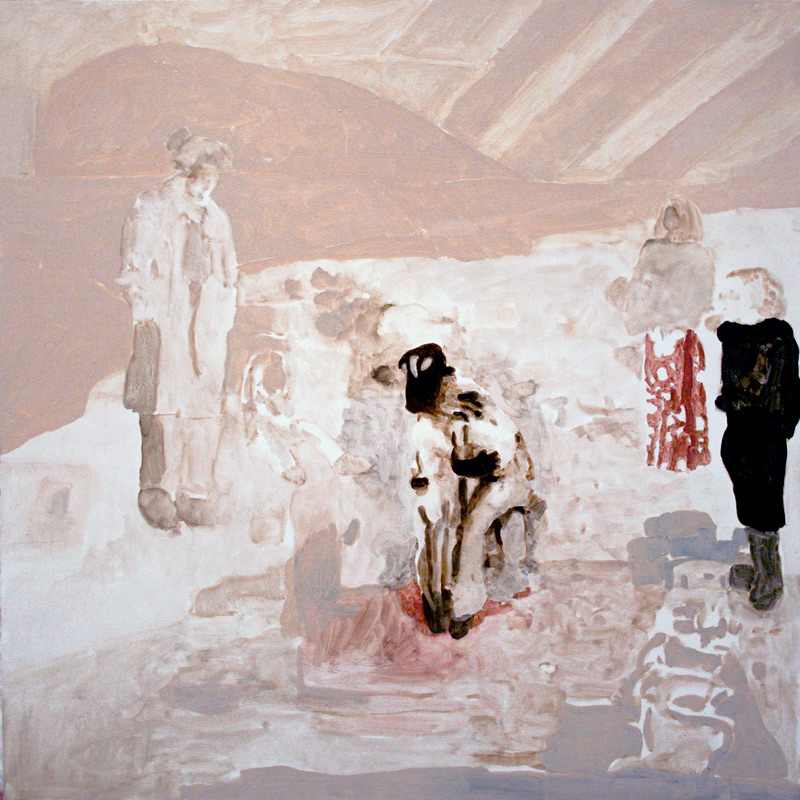 "Performance with Two Synthetic Humans, 24x24"", 2006"