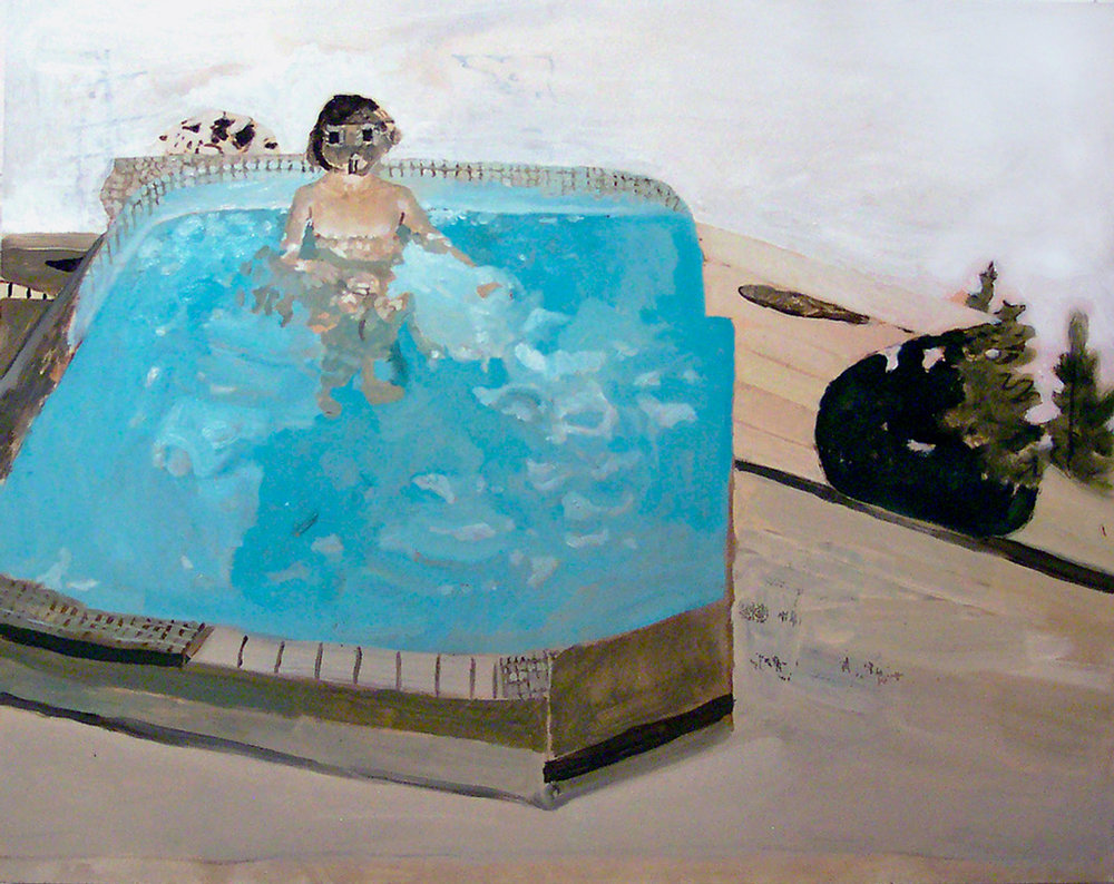 "House for a Head, 24x30"", 2005"