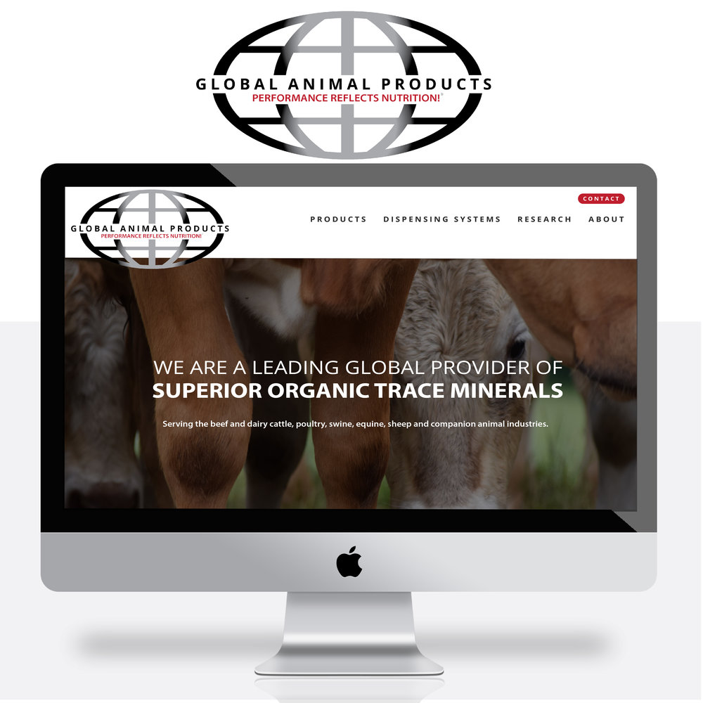 GLOBAL ANIMAL PRODUCTS |  REBRANDING, WEBSITE DESIGN + DEVELOPMENT, MARKETING MATERIALS, INTERIOR BRAND MARKETING