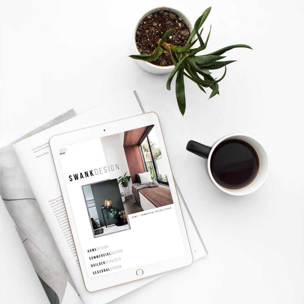 SWANK INTERIOR DESIGN - BRANDING + WEBSITE DESIGN