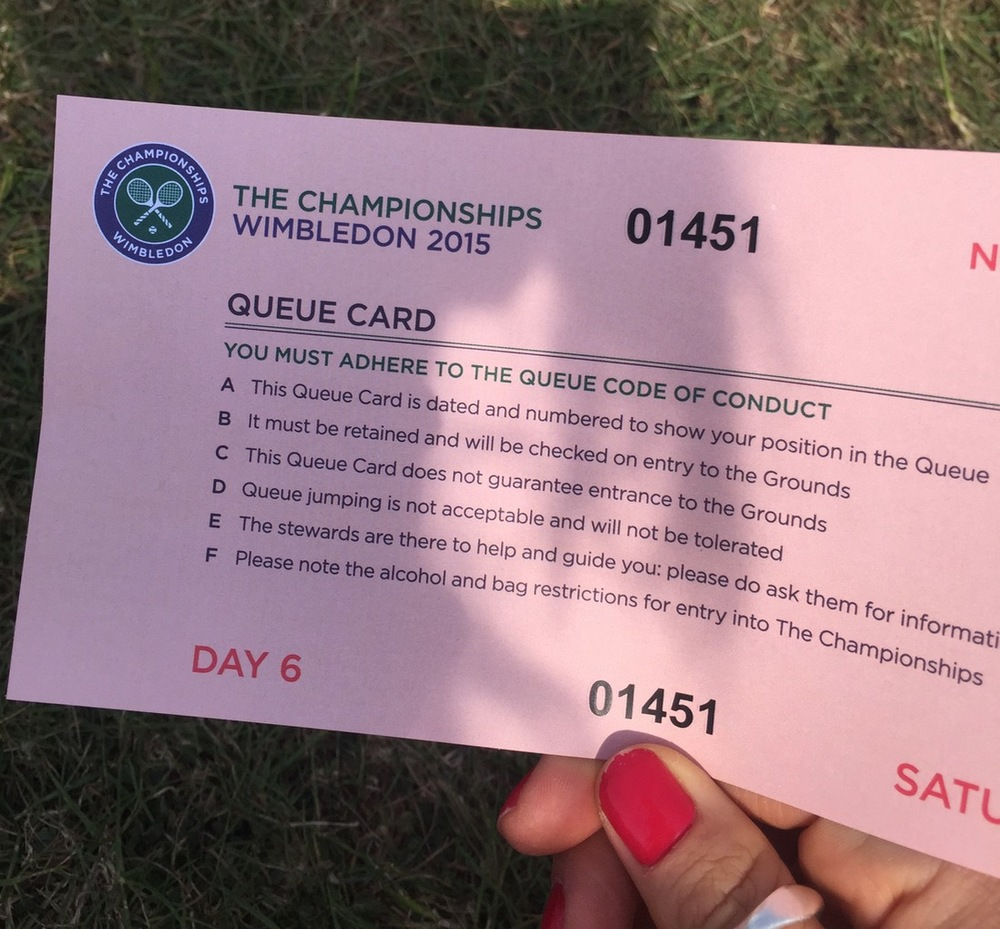 Queue card