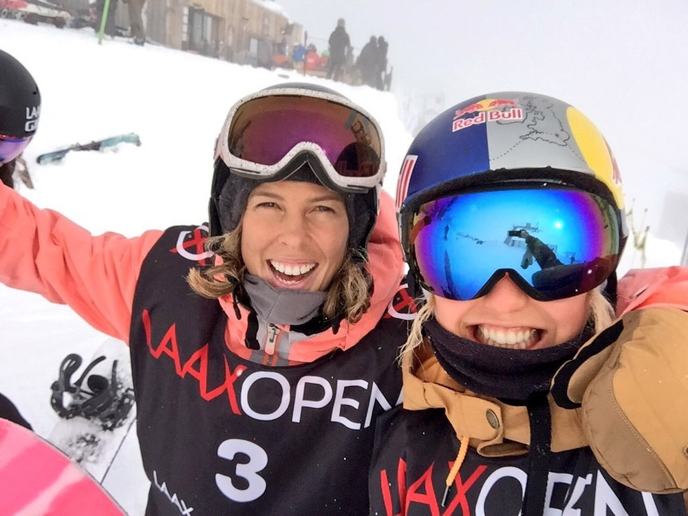 With Roxy Team mate, Torah Bright! Ready to drop in HOT!