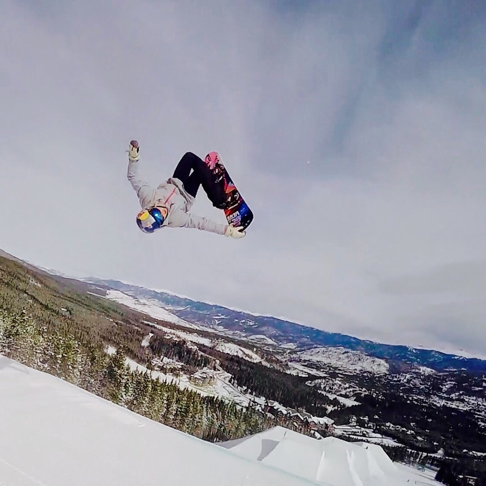 Flying over the ROCY Mountains. Breckenridge Parks. ON FIRE!