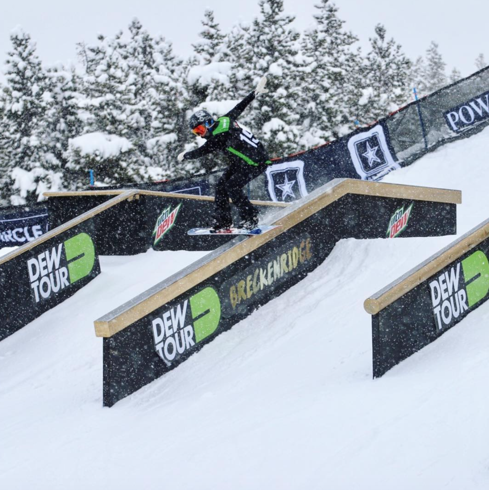 Here's a snap shot of me in Action from Dew Tour!