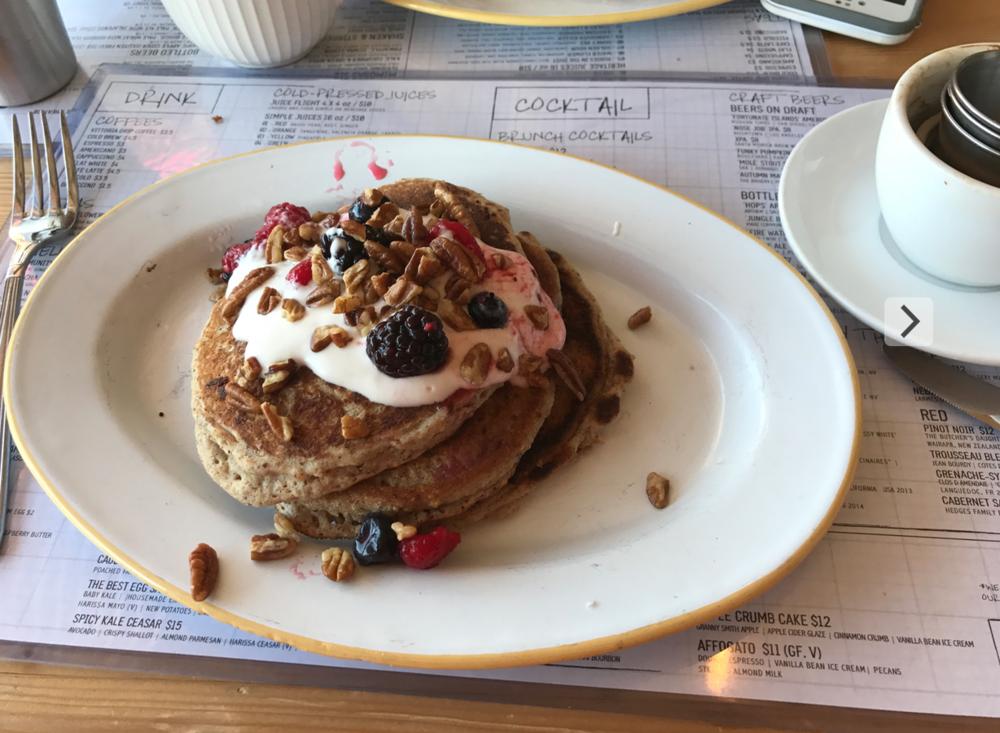 Pancakes LA style.