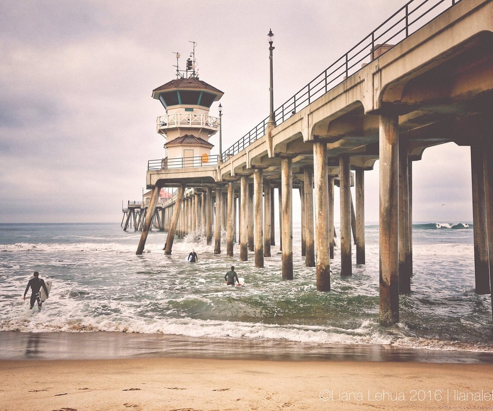 ©LIANA LEHUA 2016. ALL RIGHTS RESERVED. CANON 5D MARK III, CANON 16-35MM F/2.8L II, FOCAL LENGTH: 35MM, ISO 100, 1/125 SEC, F/8 HUNTINGTON BEACH PIER