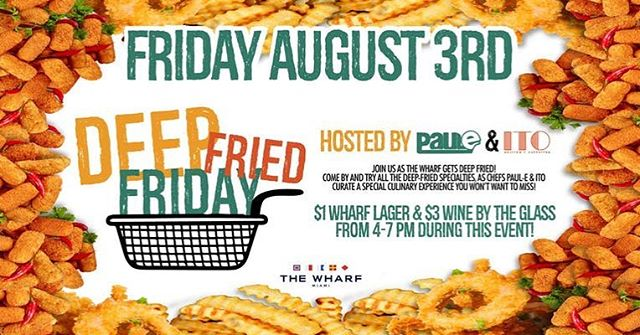 👀👀👀 Who's joining us at @wharfmiami for DEEP FRIED FRIDAY??? Get ready for our Deep Fried Pancake Batter Burger 👀 @kingofracksbbq @thisispaule  #ITOCollab #PaulEats