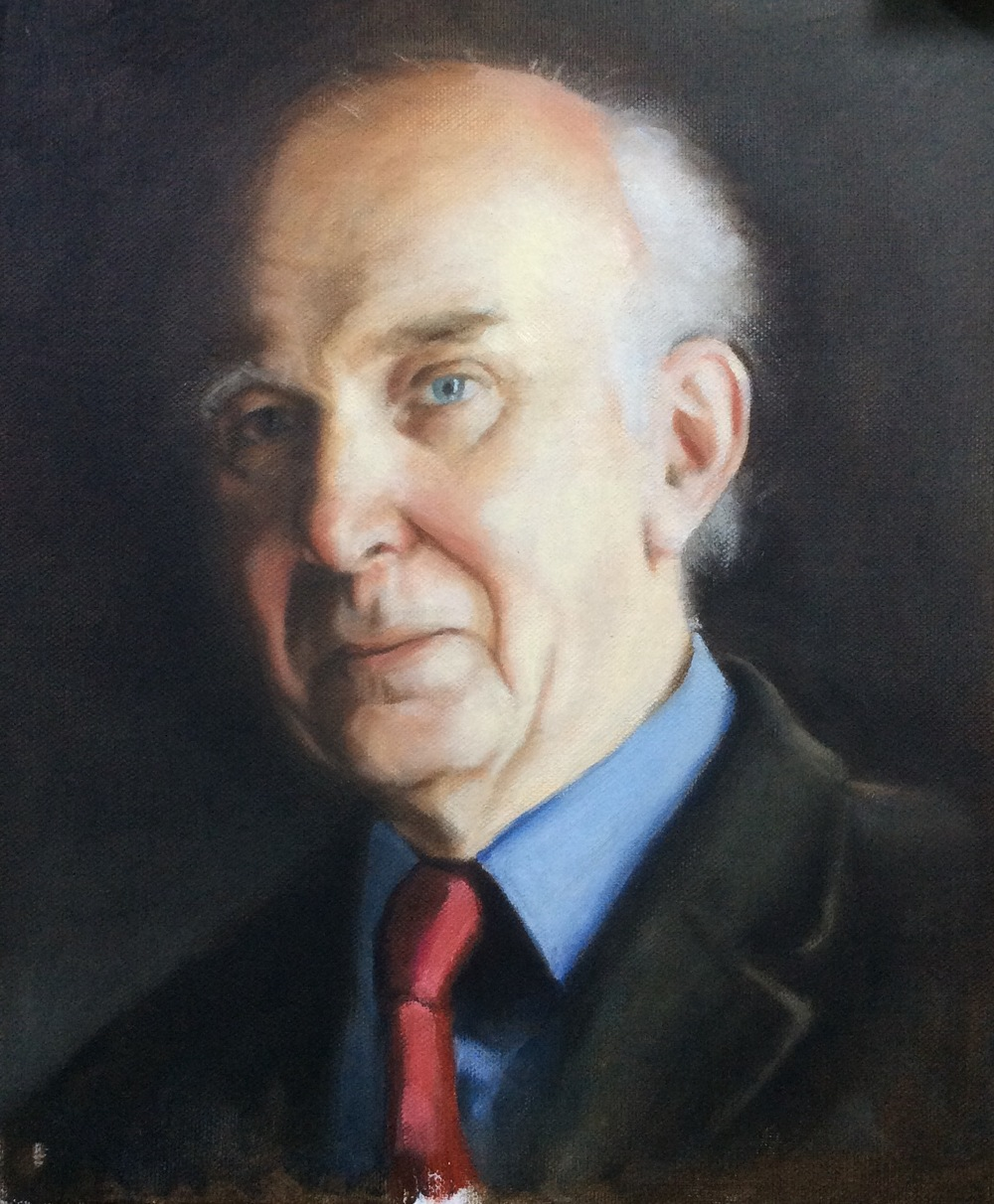 Sir Vince Cable Oil on board