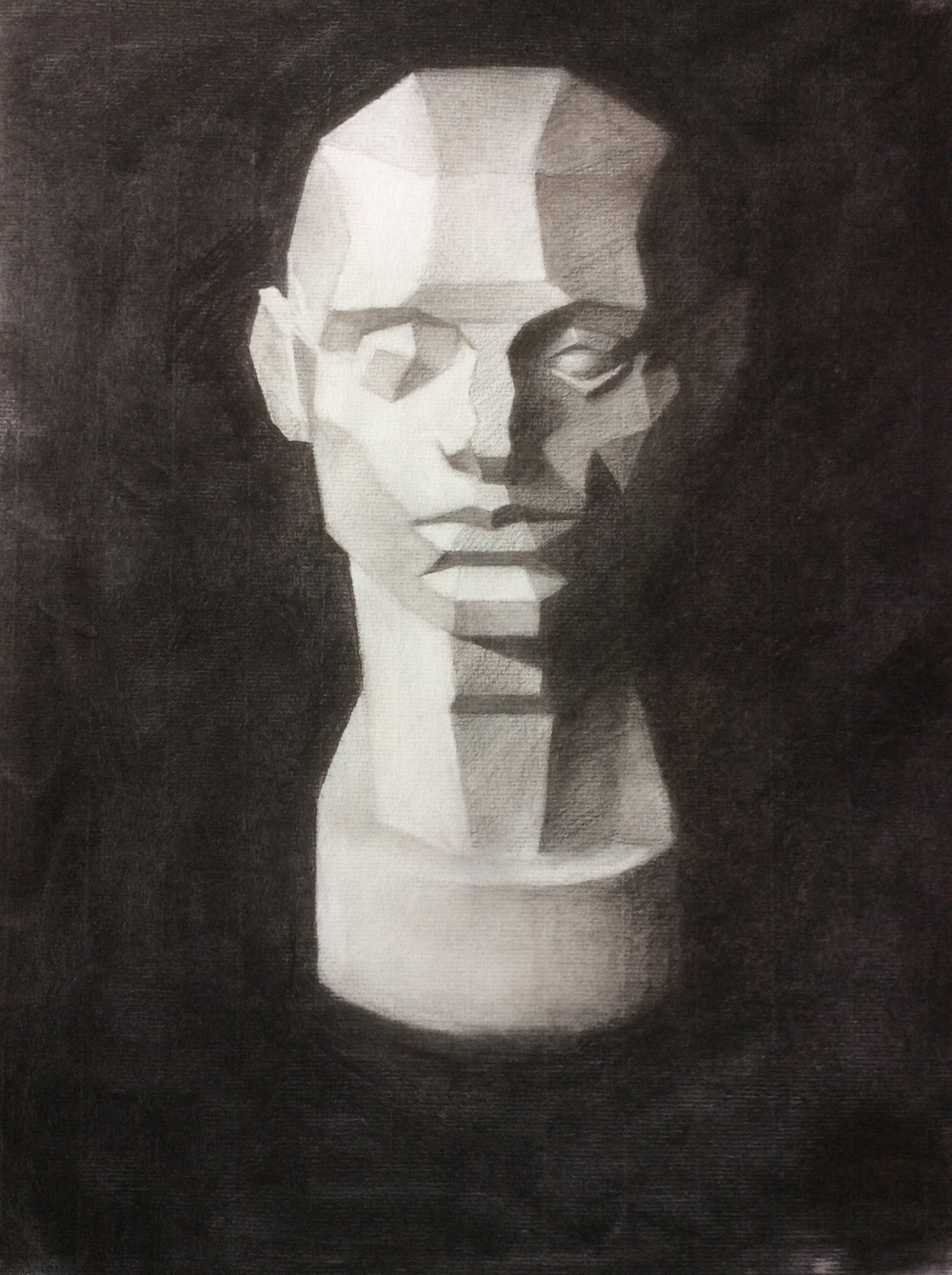 Technohead   Charcoal on paper