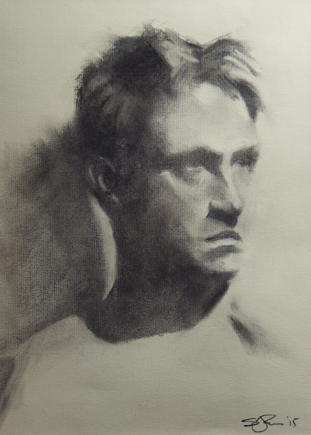 Tom   Charcoal and chalk on paper