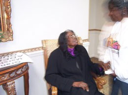 "Adella Jenkins Quick, 106 Years Old 2012 Grand Marshall ""Spirit of Christmas"""