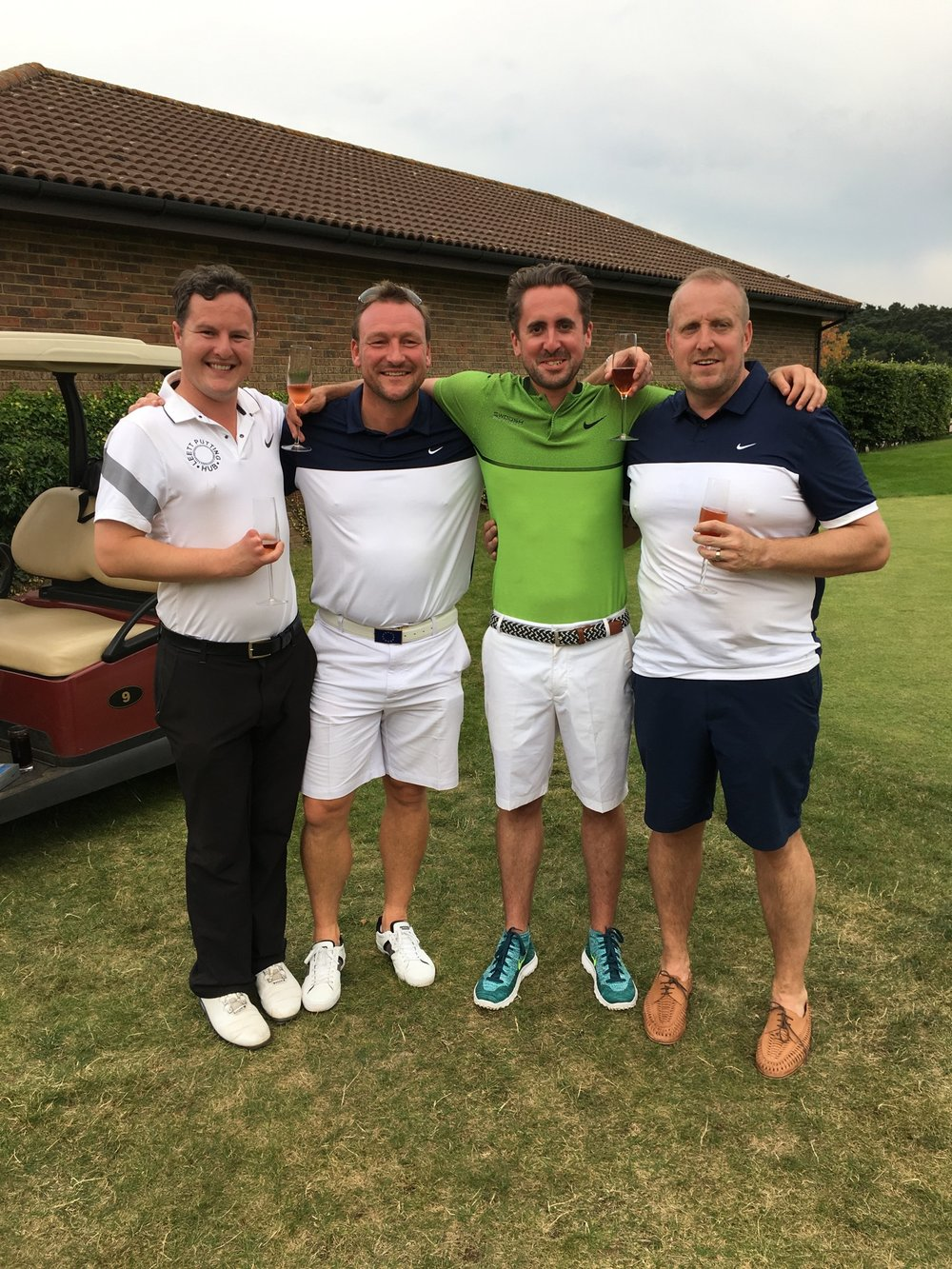 Gary & Craig with Myself & Oli After the Round